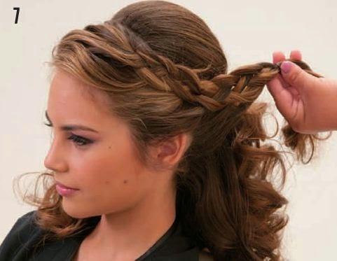 Peinados sueltos con ondas y trenzas paso a paso - Peinados y trenzas ...