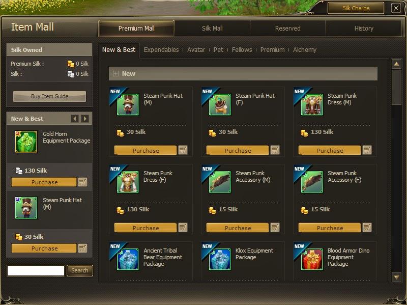 MMORPG Cash Shop advantages