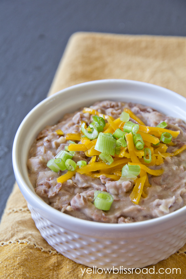 Easy Homemade Refried Beans - Yellow Bliss Road