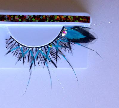 faux cils faux-cils etsy originaux excentriques eyelashes lashes feathers plumes
