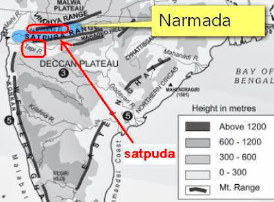 Narmada Satpuda location