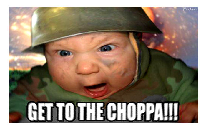 Pin get to the choppa baby meme on pinterest