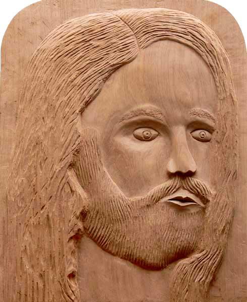 Jesus - Entalhe em madeira