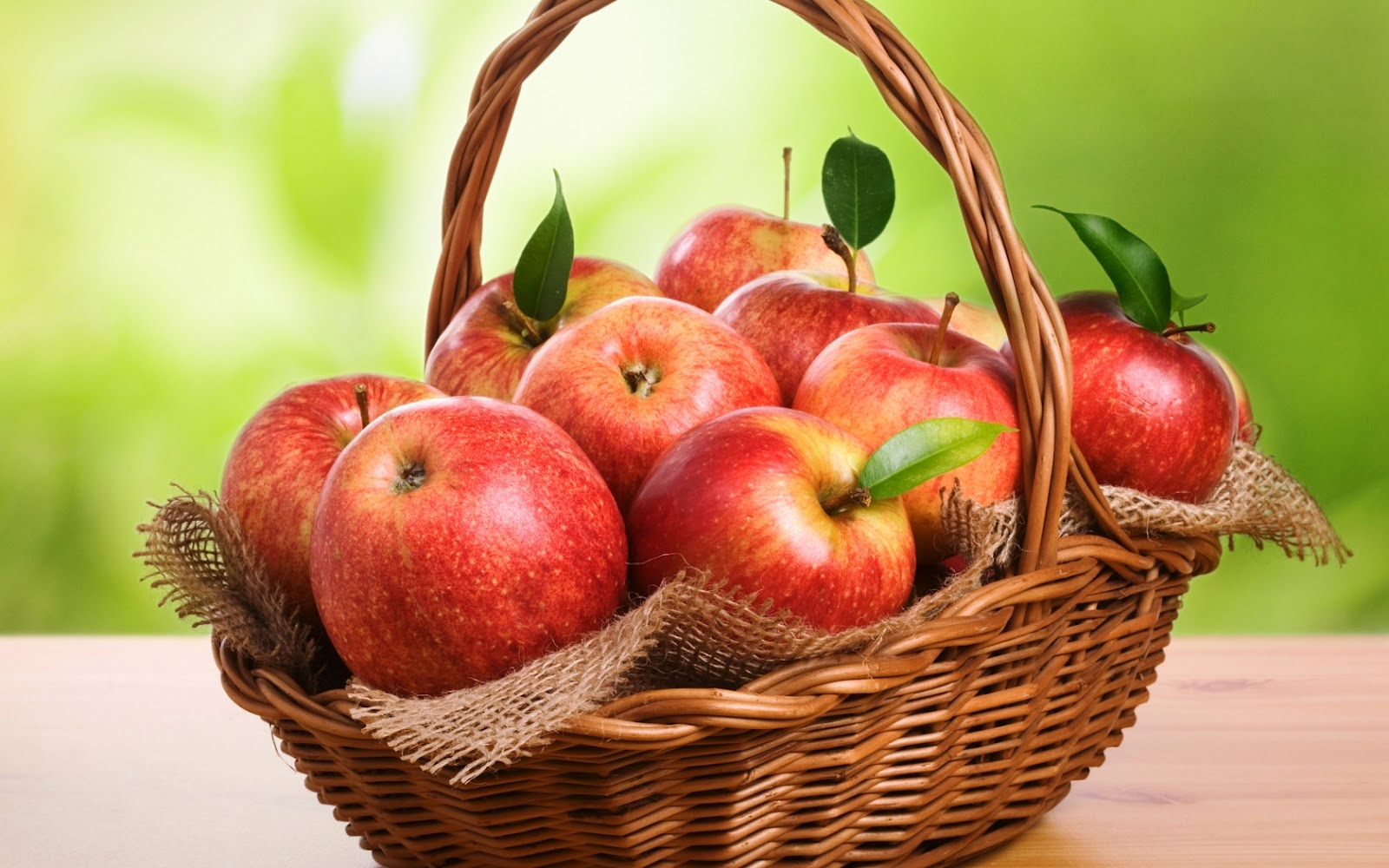 Fresh Red Apples In A Basket Hd Wallpaper Hd Nature