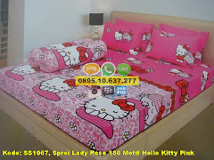 Harga Sprei Lady Rose 180 Motif Hello Kitty Pink Jual