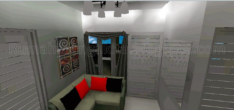desain rumah tipe 45 tanah 90 1 lantai 3 kamar tidur 1