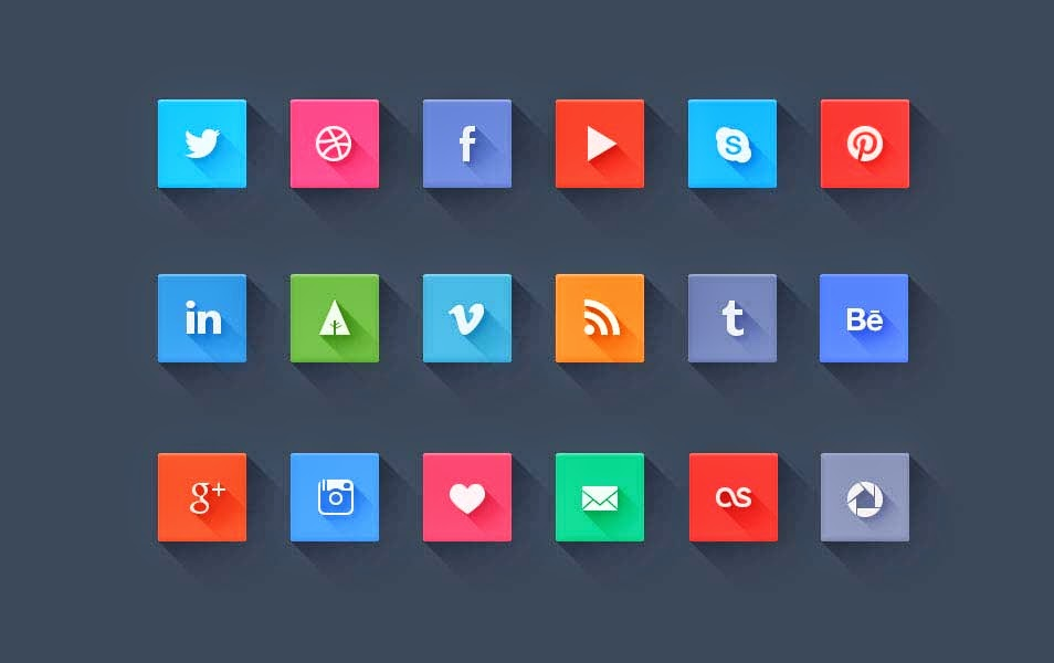 Freebie Social Media Icons PSD