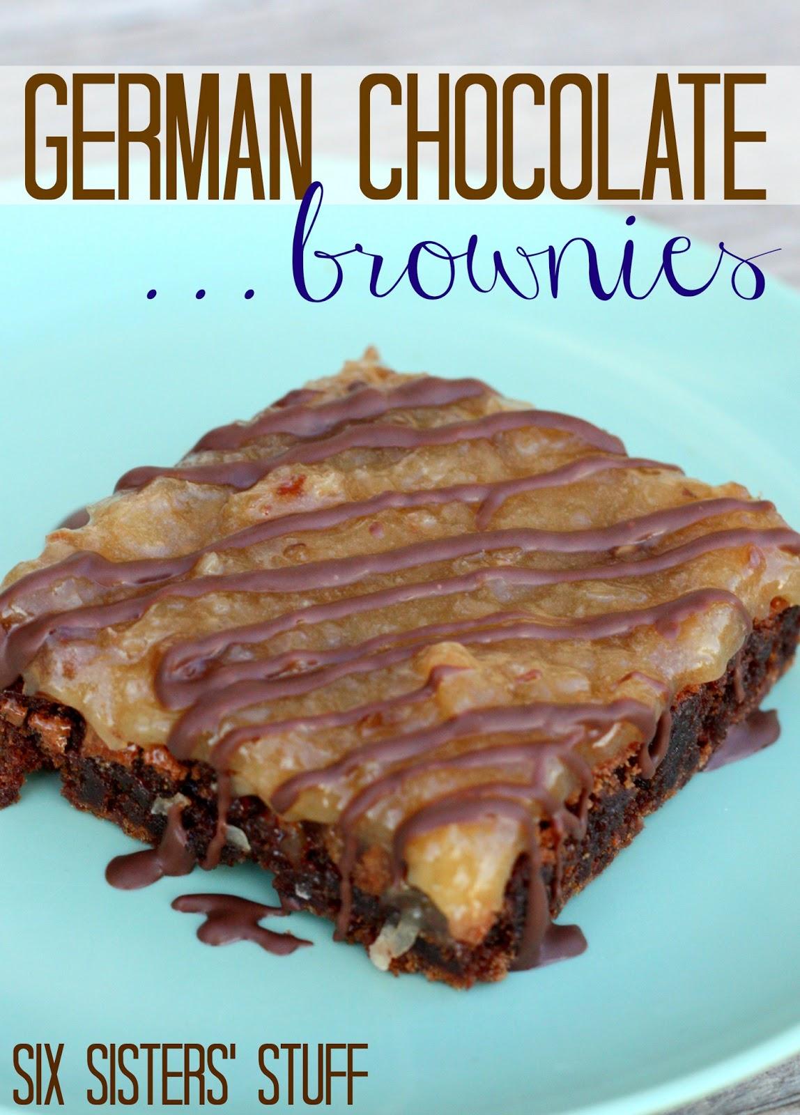 German Chocolate Brownies | Six Sisters' Stuff