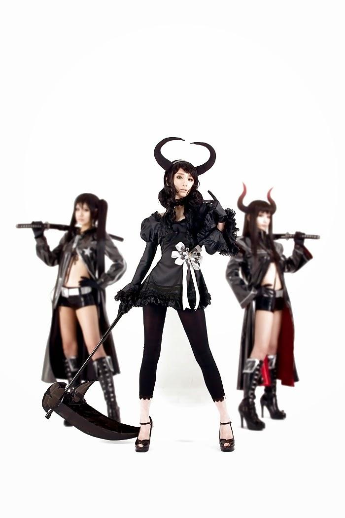 trio de cosplay asiatique de démones