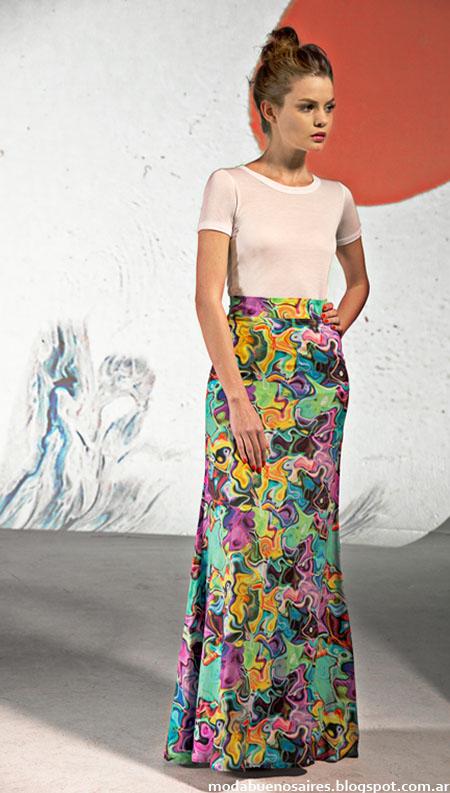 Mancini primavera verano 2015 faldas largas de moda 2015.