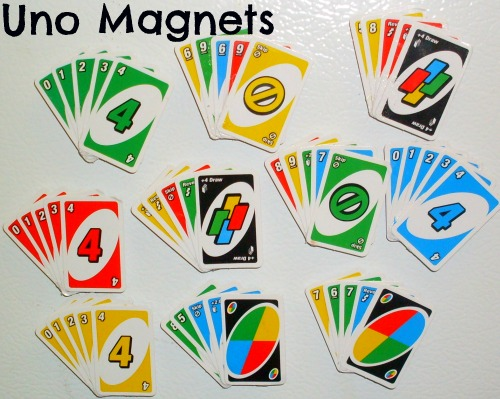 How to make Uno MagnetsUno Cards Template