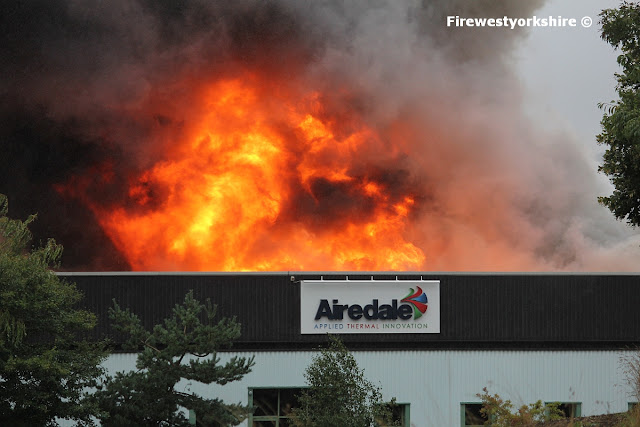 Flames leap from Building