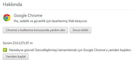 Google Chrome 24 Güncelleme 2