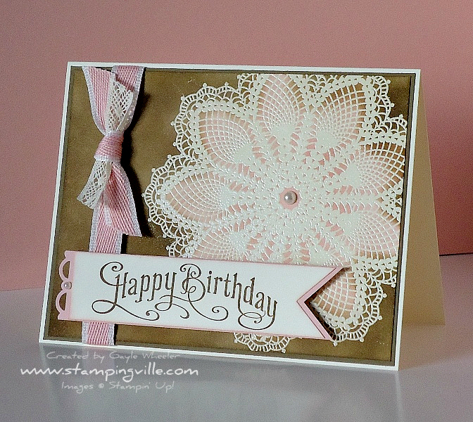 Stampin' Up! Hello Doily With Perfectly Penned Greeting