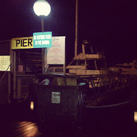 Boats Pier and Rubbish Bin