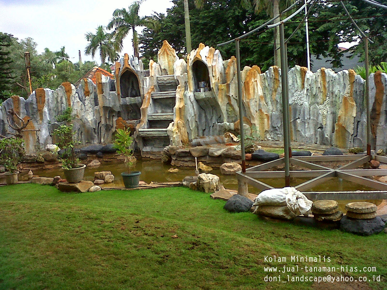 Kolam Relief | Kolam Air Mancur | Hiasan Dinding | Dinding Relief | Kolam Mini | Kolam Minimalis & Koi / Ikan | Saung Gazebo Bambu & Kayu Kelapa