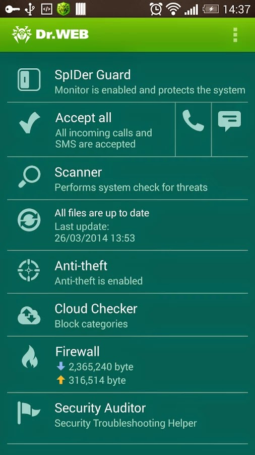 Dr.Web v.9 Anti-virus Life lic v9.01.1