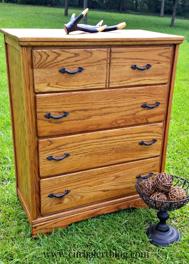 Rustic Solid Wood Dresser Makeover