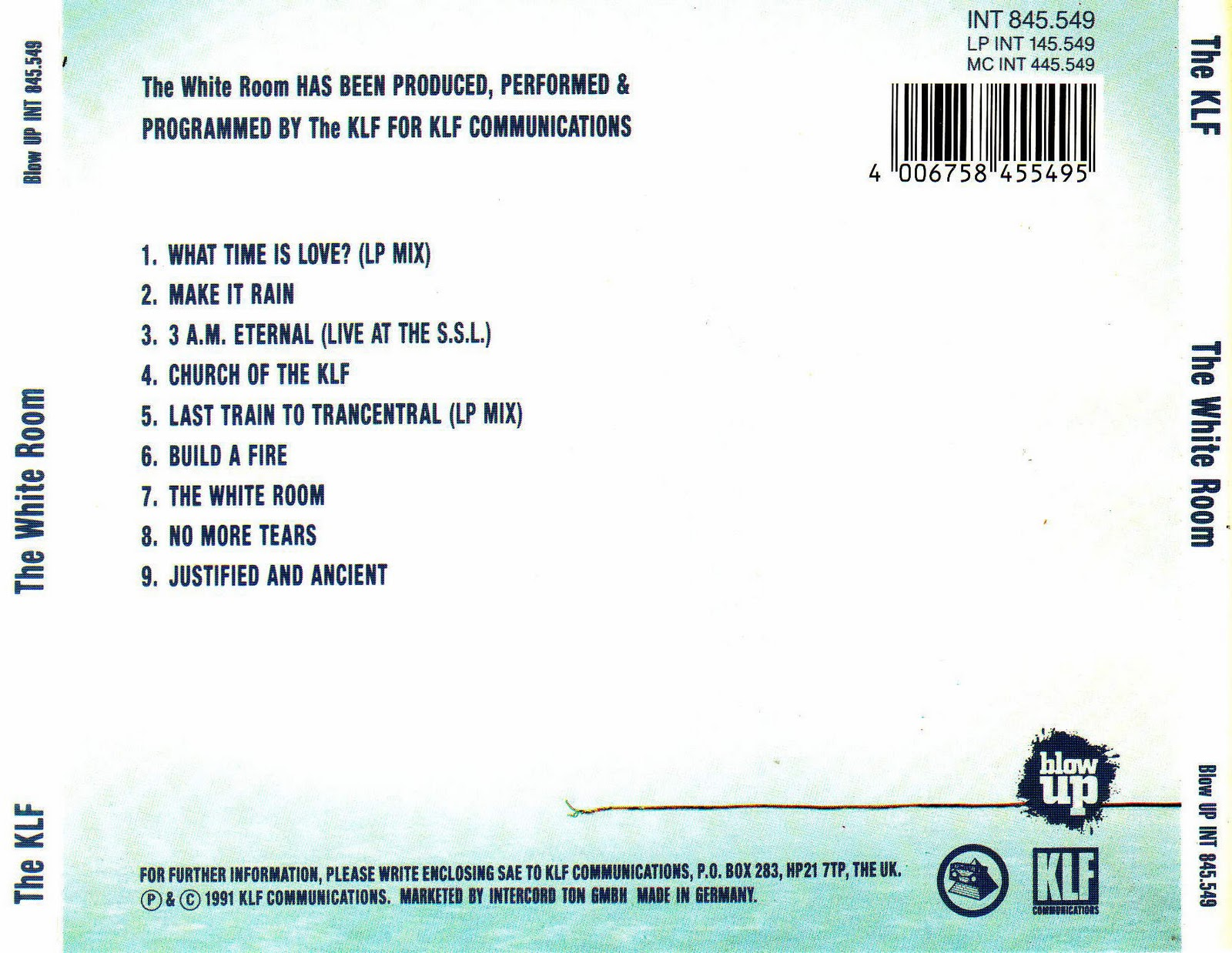 Klf White Room Album