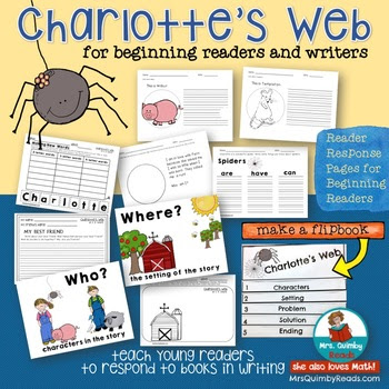 Charlotte's Web Book Companion for Young Readers for Grades K-1