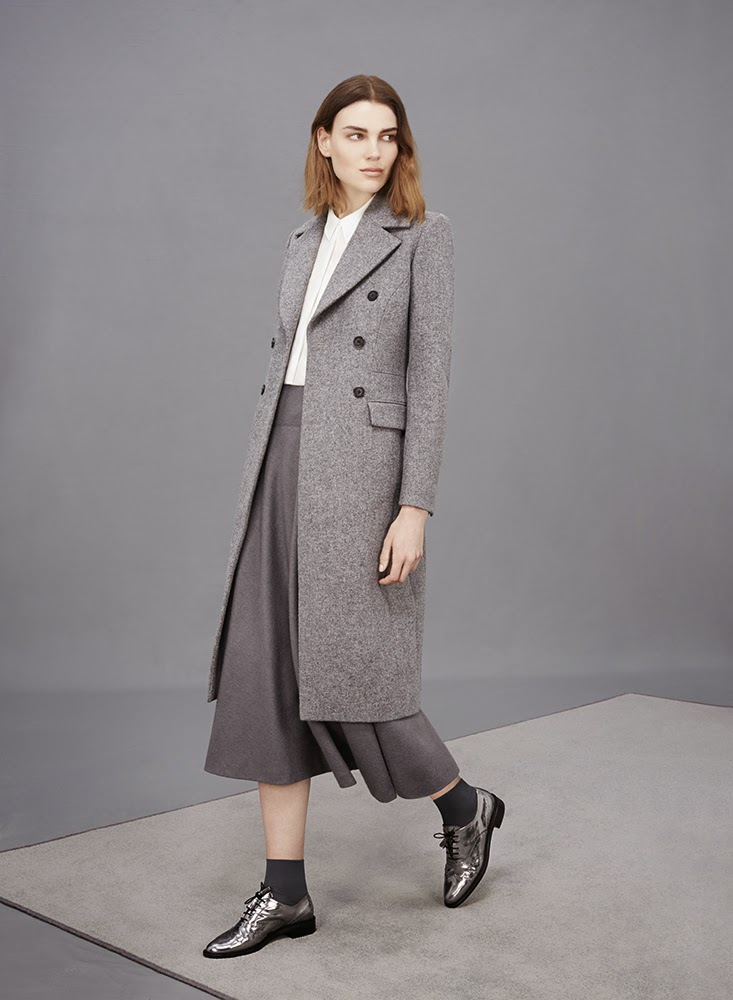 Hobbs grey Elsa Coat, Cathy Skirt, Agatha Brogues
