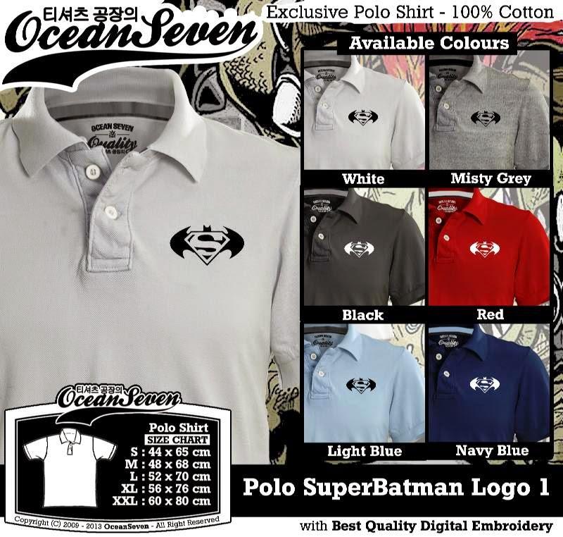 Kaos Polo SuperBatman Logo 1