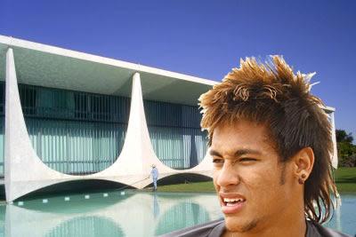 Foto Neymar New HairStyle Rambut 2013