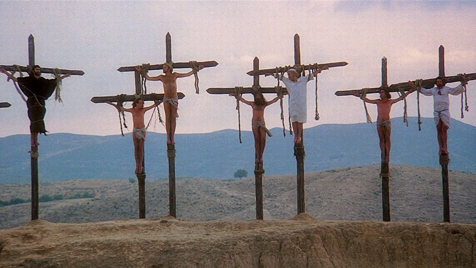 life of brian film 1979 graham chapman crucifixion always look on the bright side of life
