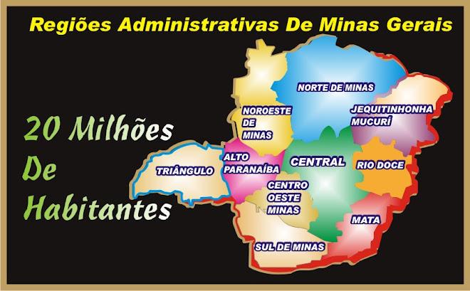 As 10 Regiões Administrativas Minas