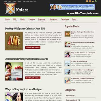 Kutara blogger template. template 3 column footer for blog