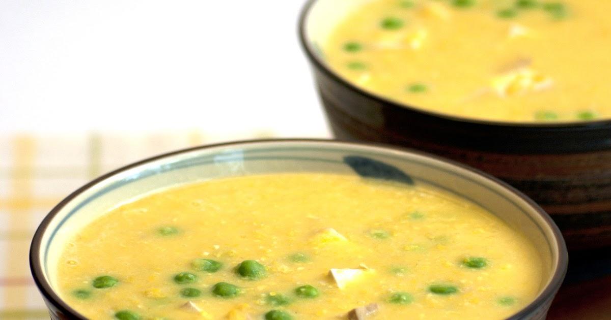 Almost Skinny Vegan FoodSweetcorn, Pea  Tofu Soup