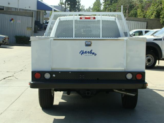 Service Body Tailgate : Commercial truck success short bed low profile