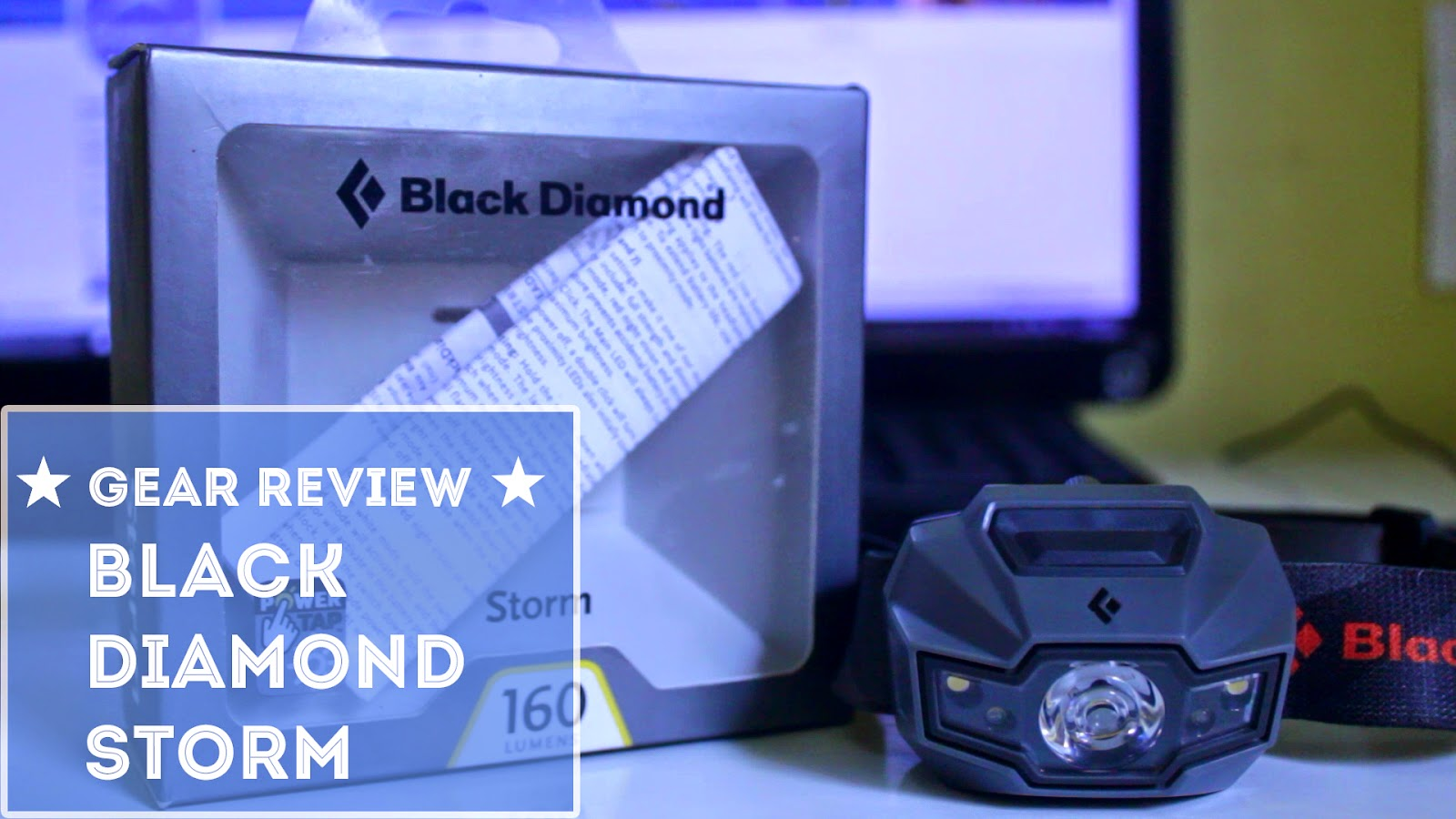 unboxing and review headlamp blackdiamond storm led light by infoslamet