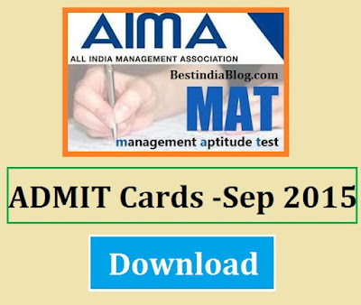 aima mat admit card download