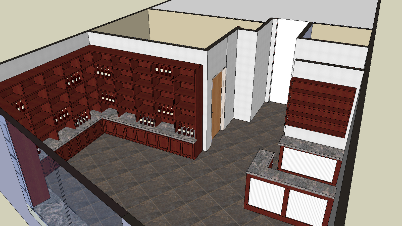 in and out home improvement design 3d rendering two
