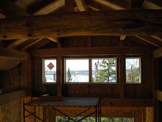 Ely Minnesota, integrity window, log beam, timberframe