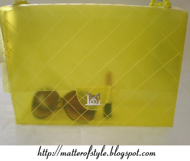 clear clutch diy, plastic bag diy, bag diy, fashion diy