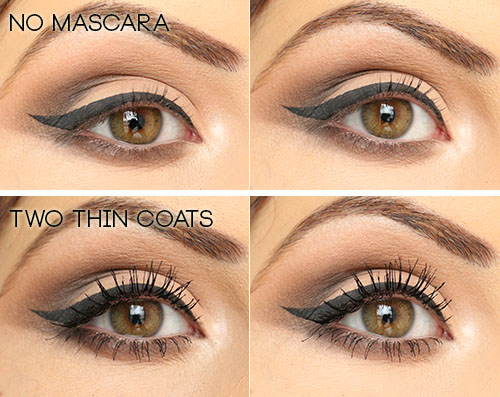 Covergirl Clump Crusher Mascara Before and After Photos