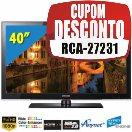 Cupom Efácil - TV 40 LCD Full HD Samsung LN40C530