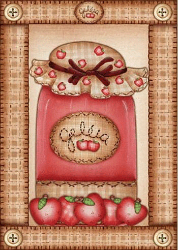 Bote de mermelada de fresa