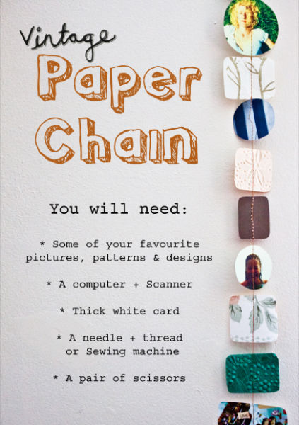 Ma Bicyclette: Make Your Own World | Vintage Photo Paper Chain