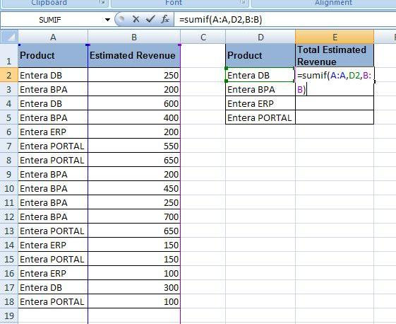 Formule Excel