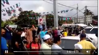 Video penyokong PAS dihalau oleh penyokong PKR yang ganas di Permatang Pauh