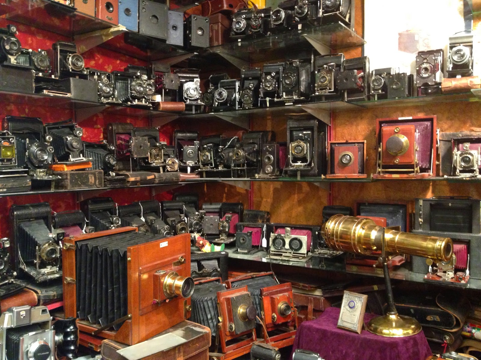 Vintage cameras at Portobello Market, London