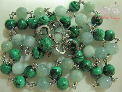 Malachite necklace by WireBliss Design