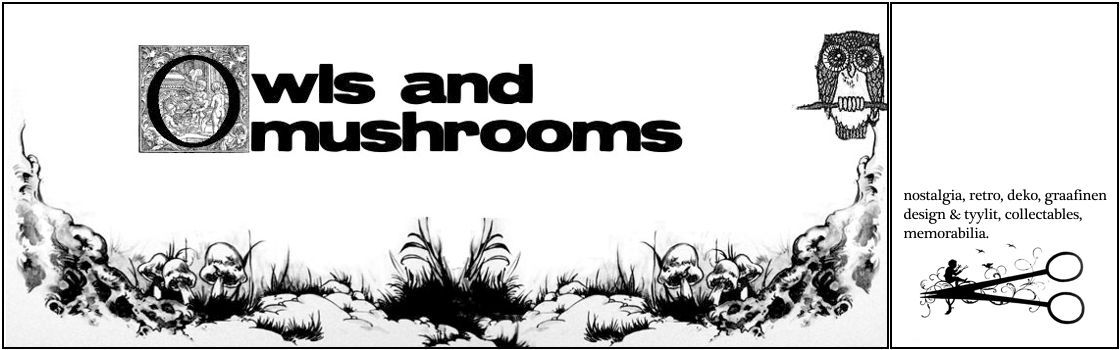 Owls and mushrooms