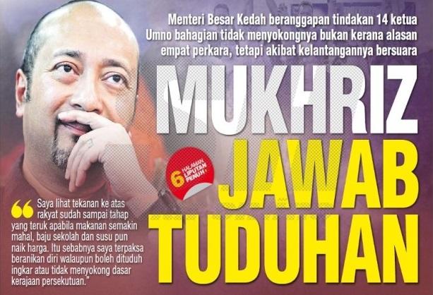 Langkah jatuhkan Mukhriz adalah 'Grand Design' dari Putrajaya?