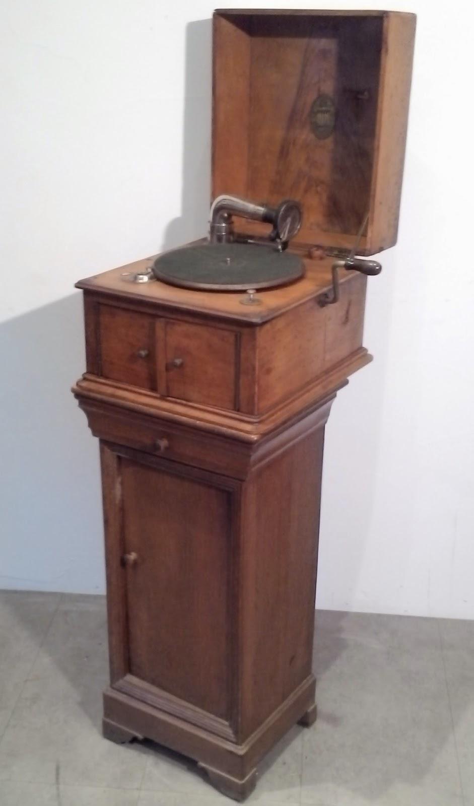 Ancien gramophone od on meuble - Meuble pour tourne disque ...