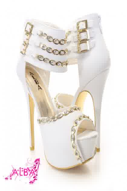 precious heels of white gold prom shoes bridal and