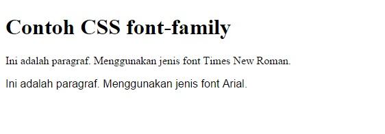 belajar CSS Fonts